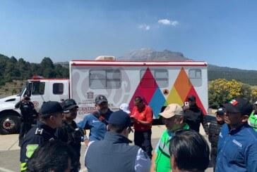 Fortalecen medidas preventivas ante actividad del Popocatépetl