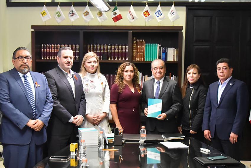 Recibió la 60 legislatura el informe de actividades 2018-2109 del INFOEM