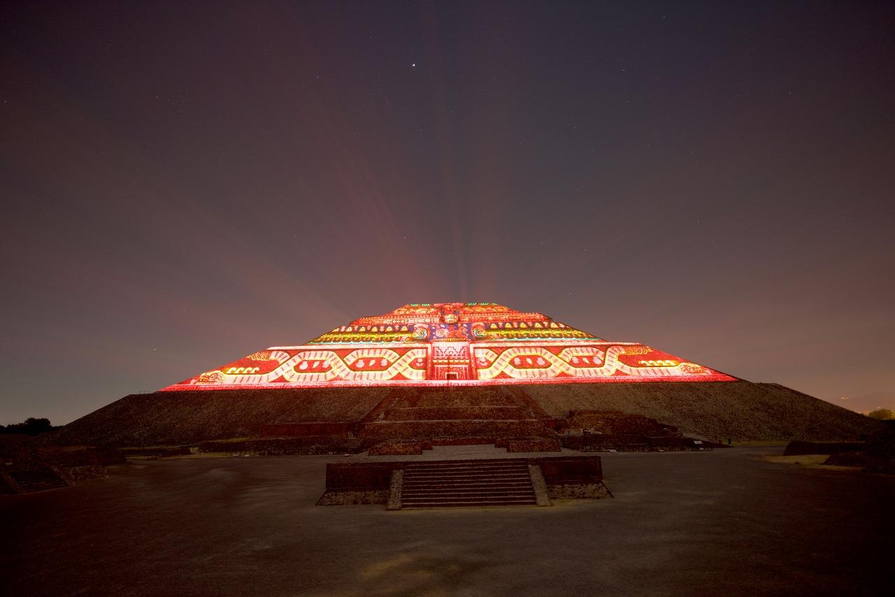 Inicia la magia y el asombro con la quinta temporada del espectáculo experiencia nocturna en Teotihuacán