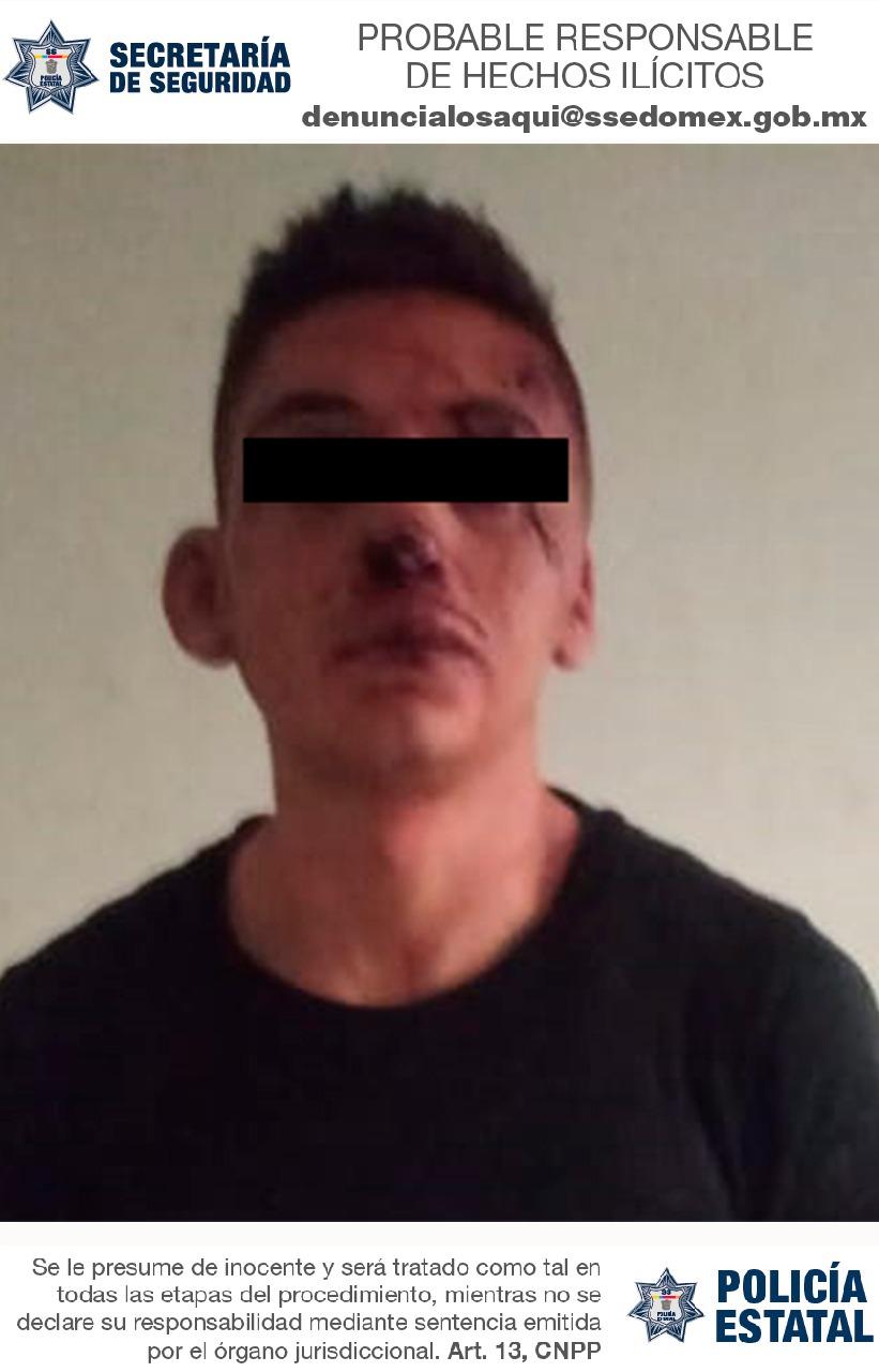 Elementos de la secretaría de seguridad aprehenden a probable responsable del robo con violencia en agravio a una mujer
