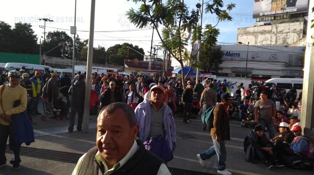 Secretaría de seguridad resguarda paso de migrantes por territorio mexiquense.