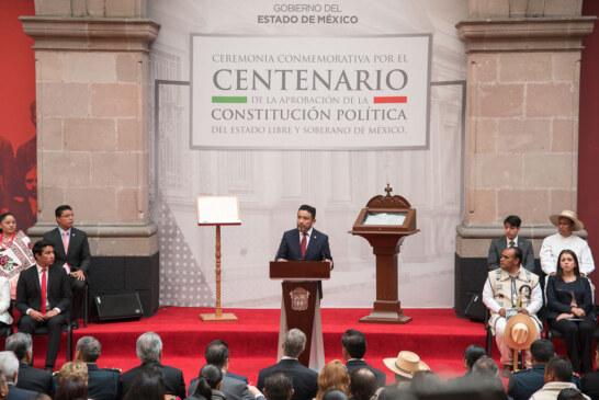 La constitución, base de un Edoméx fuerte y dinámico que sigue su marcha: Cruz Roa