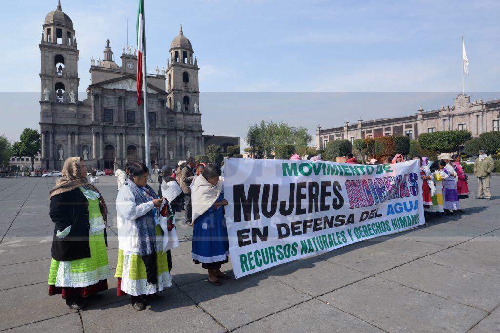 Mujeres mazahuas en defensa del agua siguen esperando que gobierno les cumpla.