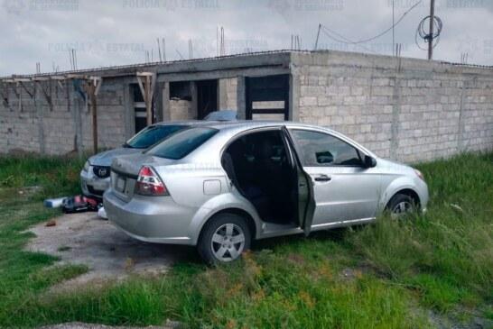 Detienen a dos probables responsables de los delitos de robo de vehículos y al transporte
