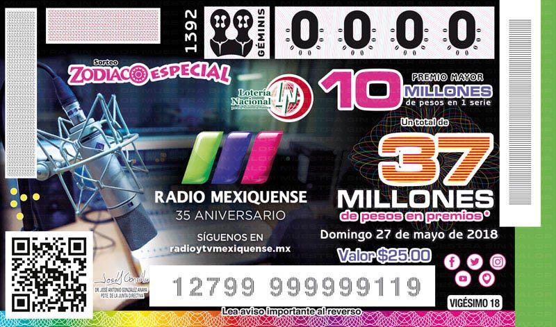 Emite Lotenal billete conmemorativo para festejar los 35 años de radio mexiquense