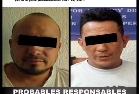 Captura SSEM a dos personas probablemente relacionadas con robo y narcomenudeo