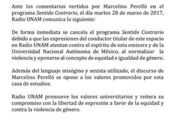 Cancelan el programa de radio de Marcelino Perelló