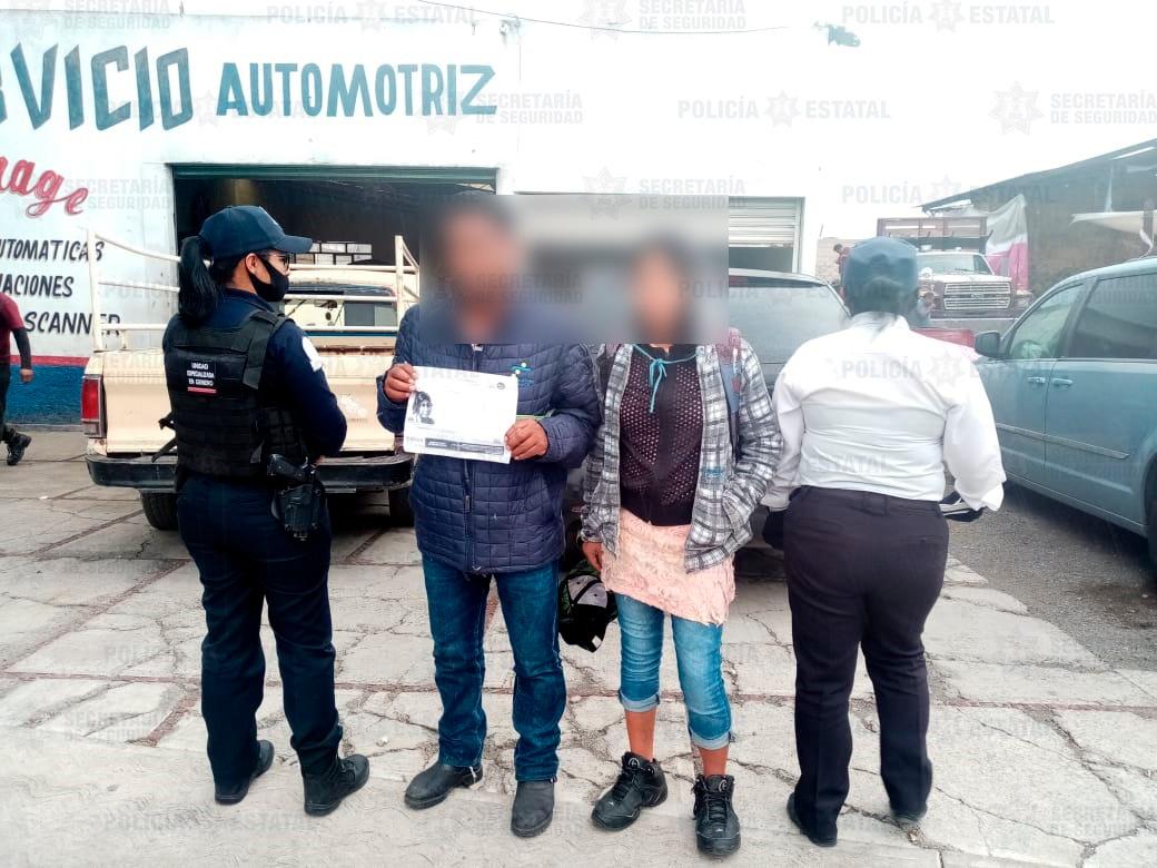 Localizan policías de la secretaría de seguridad a menor de edad desaparecida desde el mes de enero