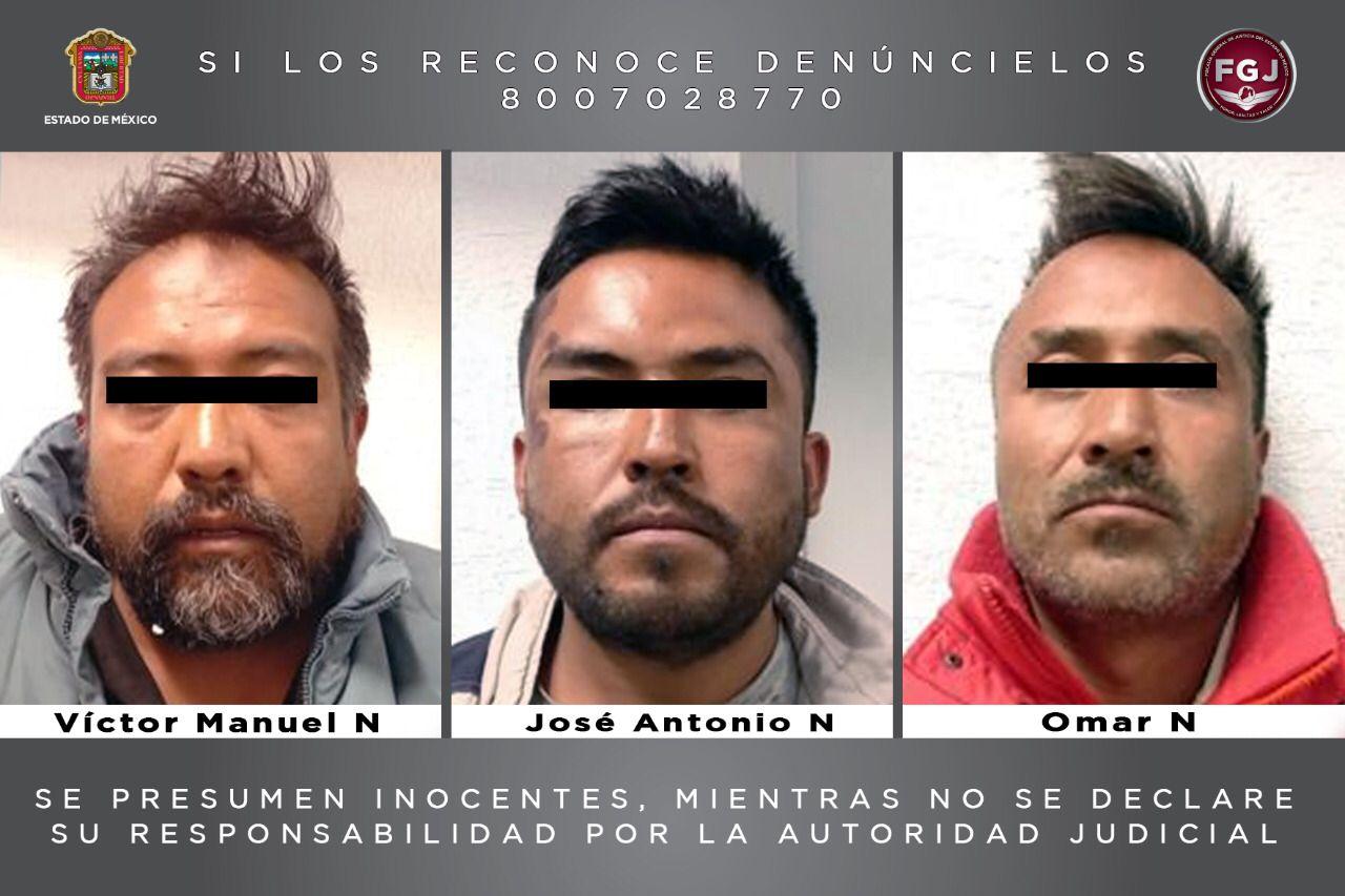 Aprehende FGJEM a tres hermanos investigados por un homicidio en Zinacantepec
