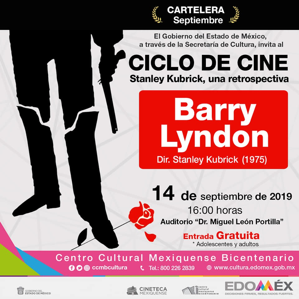 Presenta cineteca mexiquense ciclo de Stanley Kubrick en centro cultural mexiquense bicentenario
