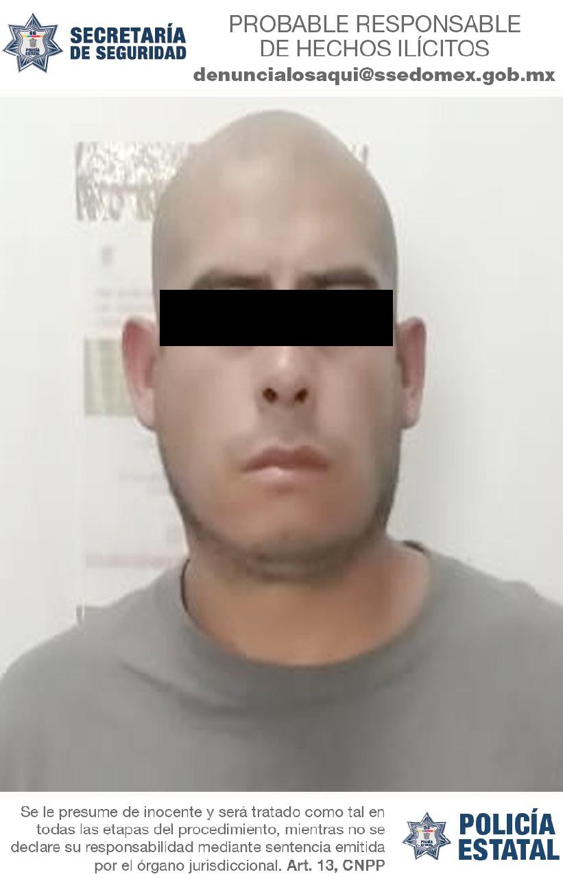 Tras persecución secretaría de seguridad detiene a probable líder de célula delictiva dedicada al robo con violencia de vehículos