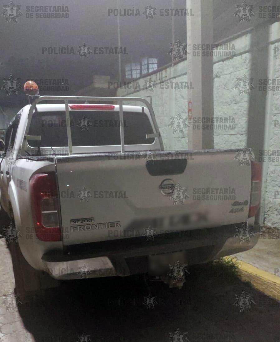 Localiza secretaría de seguridad camioneta con reporte de robo