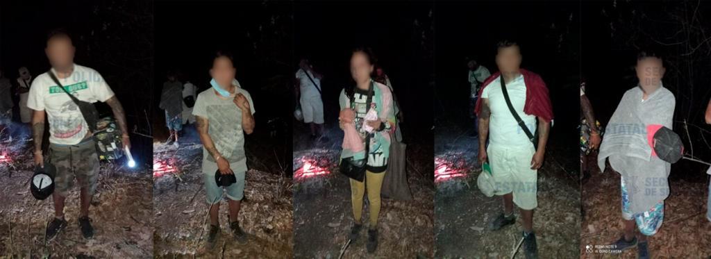 Localizan elementos de la secretaría de seguridad a cinco personas extraviadas en zona boscosa