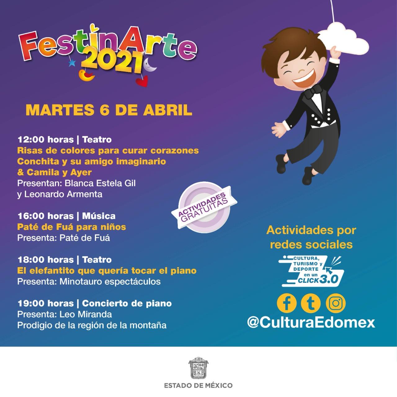 Alistan «Festinarte 2021», festival dirigido a la comunidad infantil