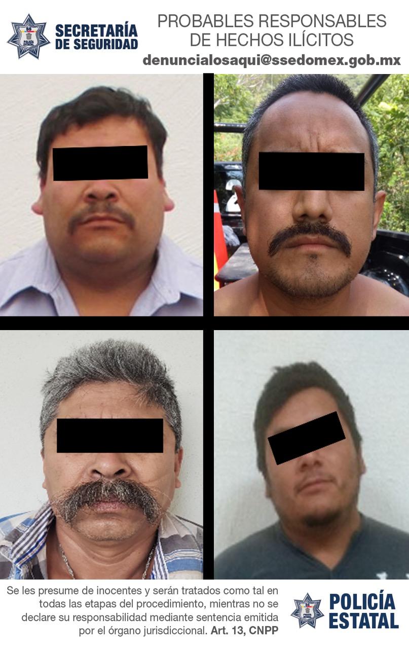 Rescatan a una víctima de secuestro y capturan a cuatro