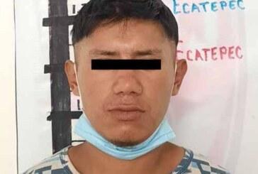 Detiene FGJEM en Ecatepec a sujeto investigado por robos de vehículo, asaltos a tiendas oxxo y venta de droga