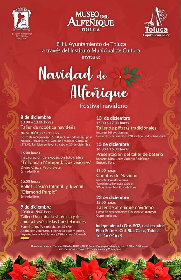 Extraordinario Festival Navidad de Alfeñique prepara Toluca