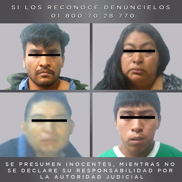 Libera fiscalía a dos víctimas de secuestro y detiene a cuatro presuntos delincuentes