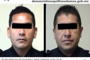 Aprehenden a dos policías municipales de Arcelia, Guerrero, por robo de vehículo en Toluca