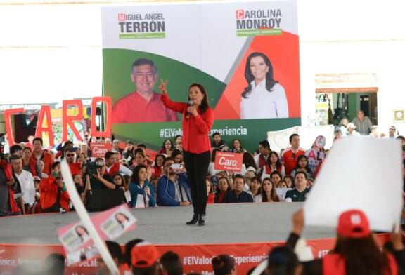 Triunfará el PRI por los votos de miles de mujeres y hombres que creen en Metepec: Carolina Monroy