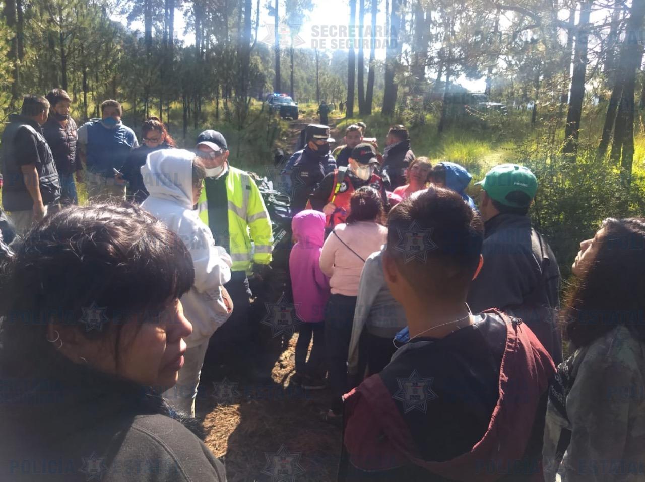 Grupos de búsqueda y rescate de la secretaría de seguridad, localizan a paseantes extraviados en los bosques de la marquesa