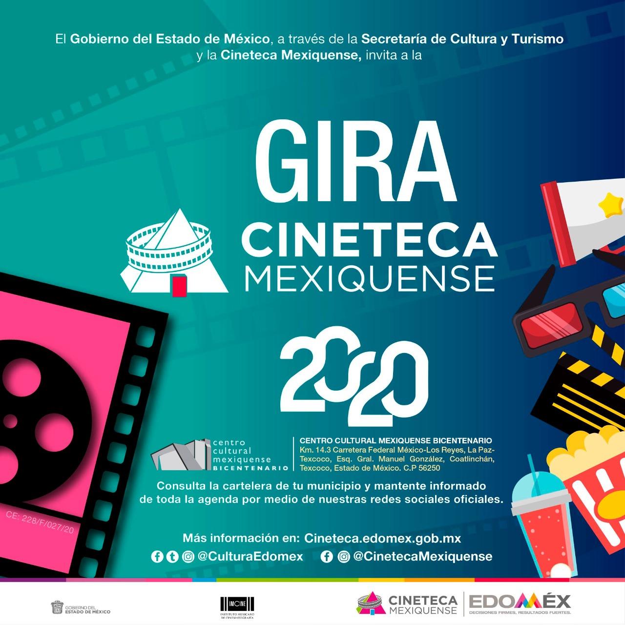 Llega cartelera de la cineteca estatal al centro cultural mexiquense bicentenario, en Texcoco