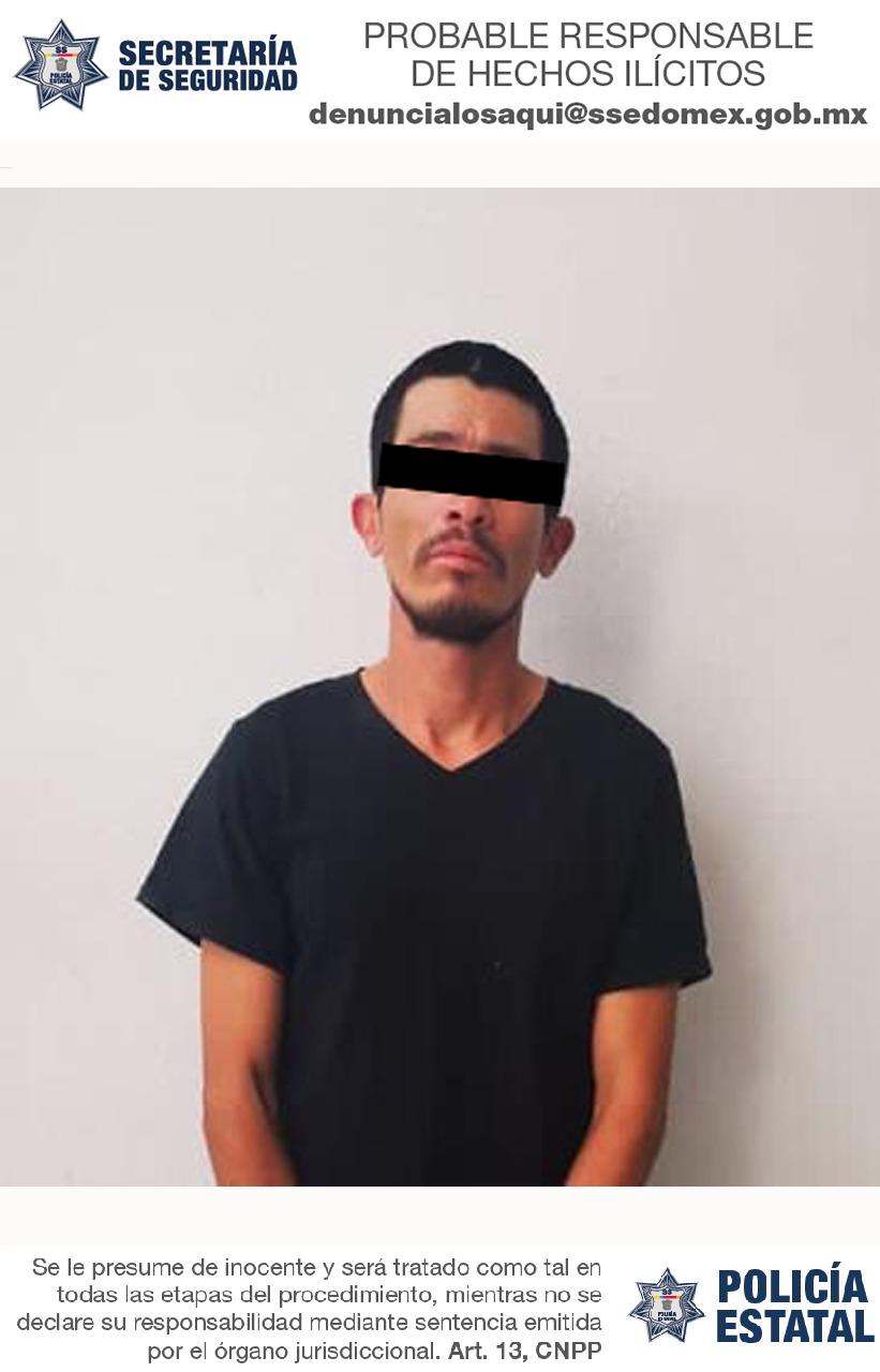 Secretaría de seguridad captura a posible implicado en delitos de extorsión y robo a transporte público