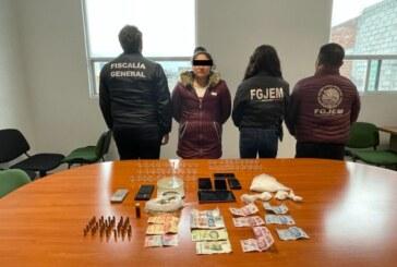 Desmantela FGJEM un punto de venta de droga en Acambay