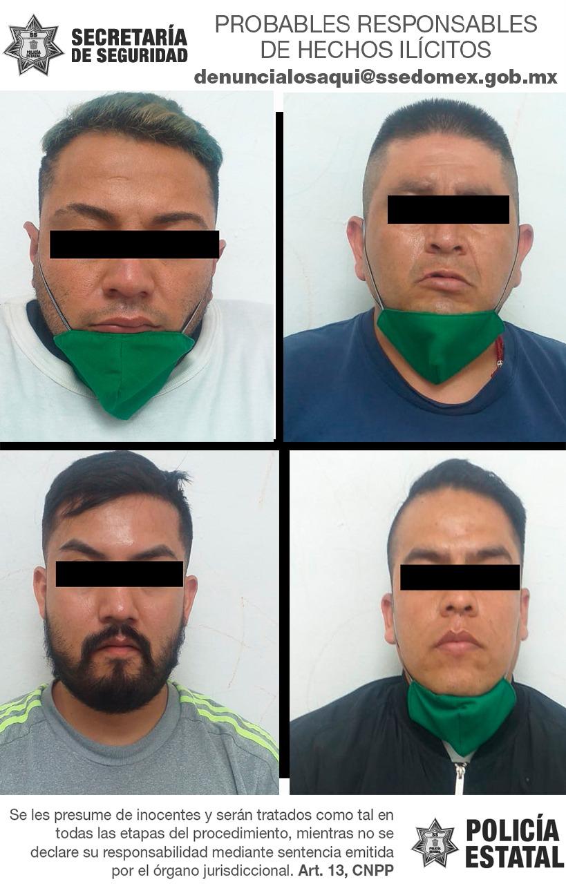 Detienen a cuatro posibles implicados en robo con violencia a tienda de conveniencia