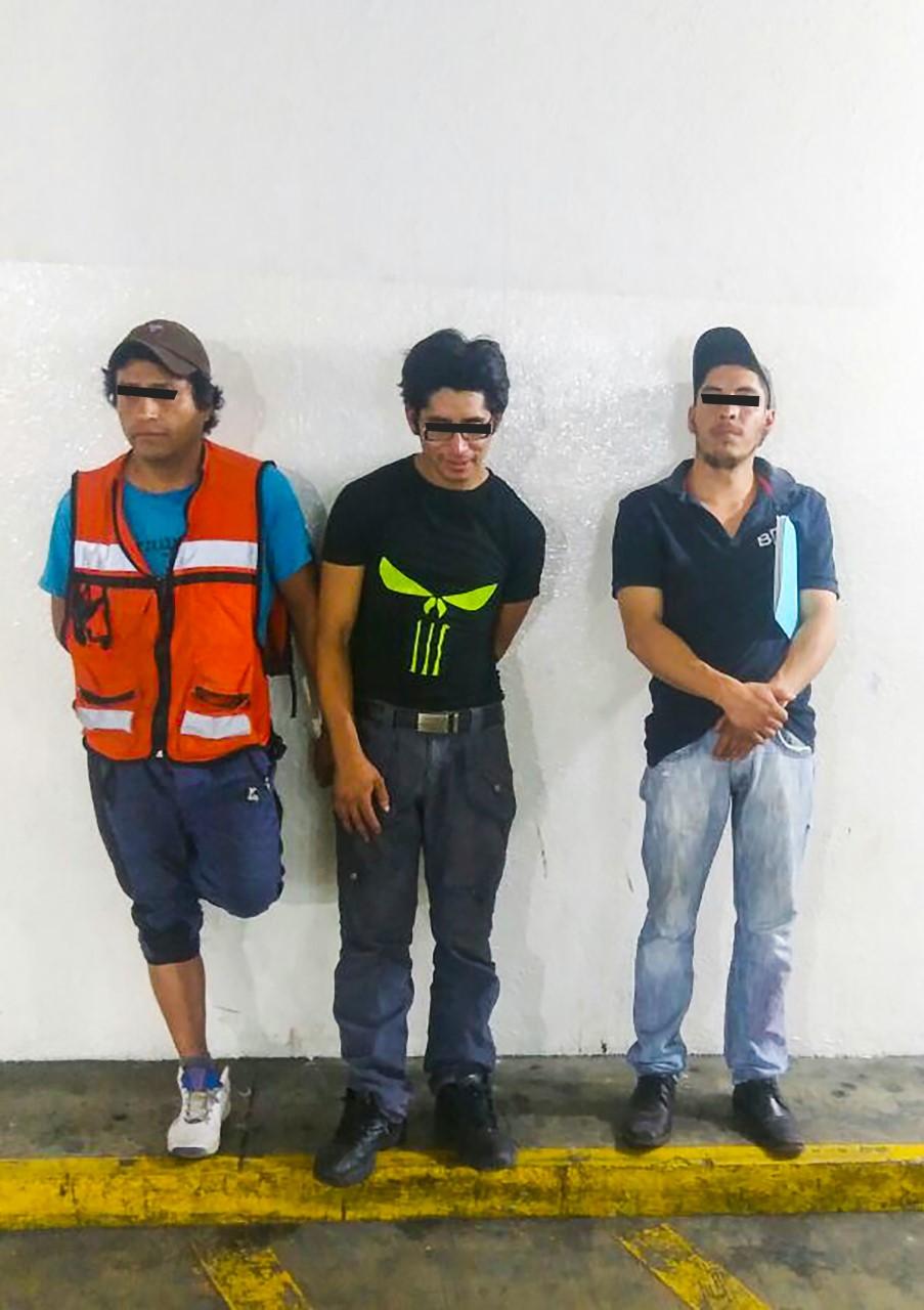 Asegura Policía de Toluca a tres por robo a casa habitación
