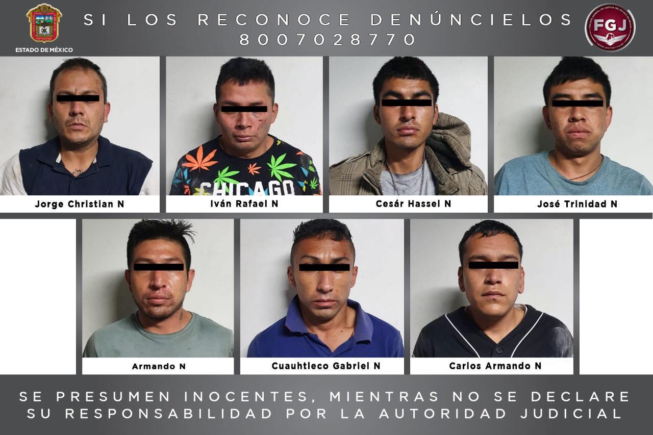 Procesan a siete sujetos que habrían extorsionado al dueño de un negocio en Valle de Chalco