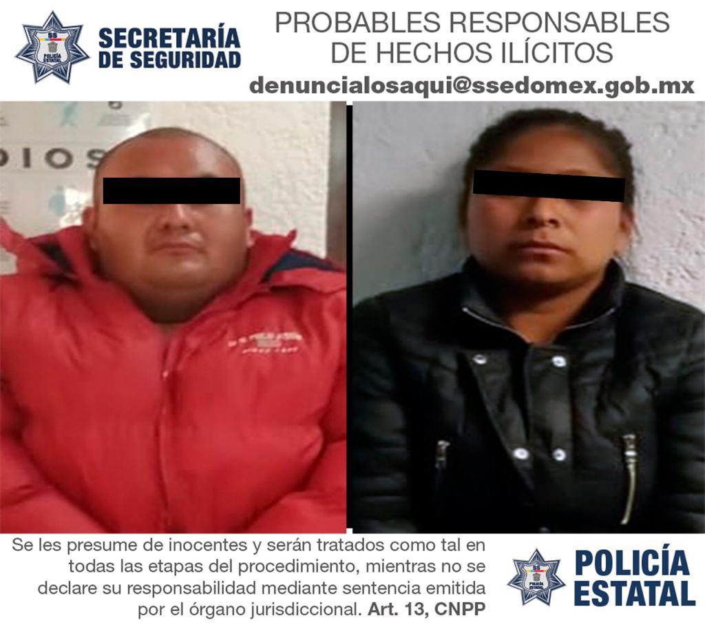 Trabajos coordinados permiten la detención de dos probables responsables de delitos contra la salud