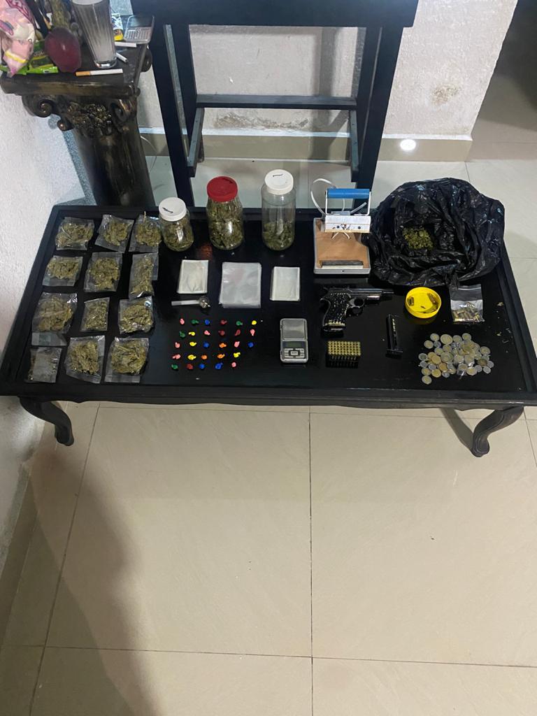 Desmantela FGJEM un punto de venta de droga en Ixtapaluca