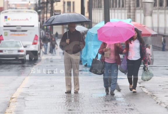 Sin novedad por las lluvias en Toluca por el momento