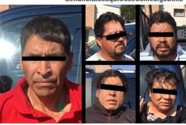 Policías estatales detienen a cinco probables responsables de amenazas y robo