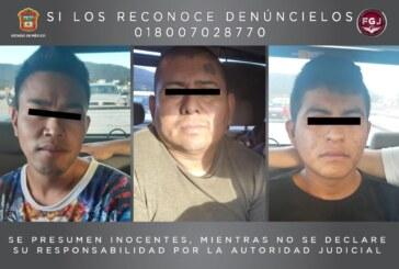 Cumplimenta FGJEM una orden de aprehensión en contra de tres probables homicidas