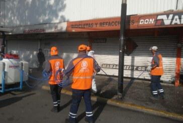 Permanente, el trabajo de sanitización en Toluca