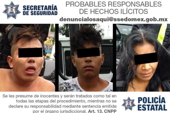 Secretaría de Seguridad captura a probables asaltantes de transporte público