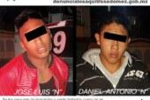 Policías estatales y municipales capturan a dos probables asaltantes de tiendas de conveniencia