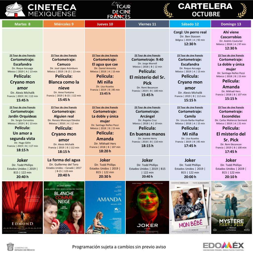 Continúa 23 tour de cine francés en la cineteca mexiquense