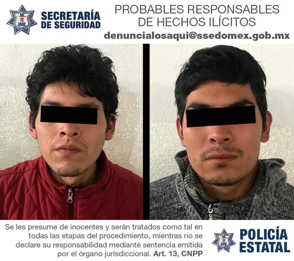 Capturan a dos personas probablemente relacionados en el homicidio de tres sujetos.