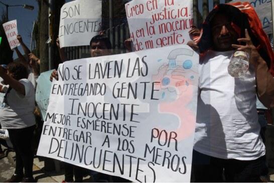 Familiares exigen justicia a quienes señalan como delincuentes