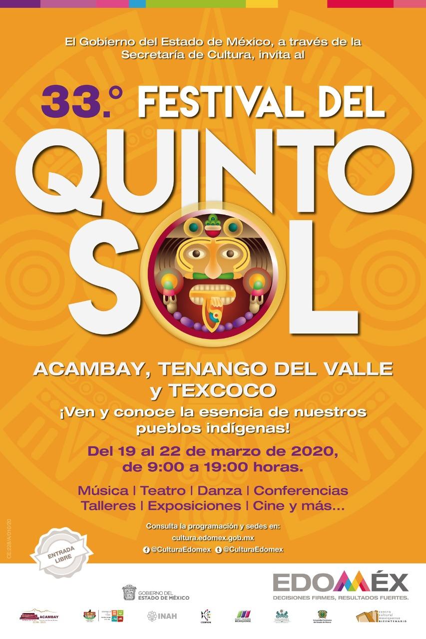Alistan festival del quinto sol en el Estado de México