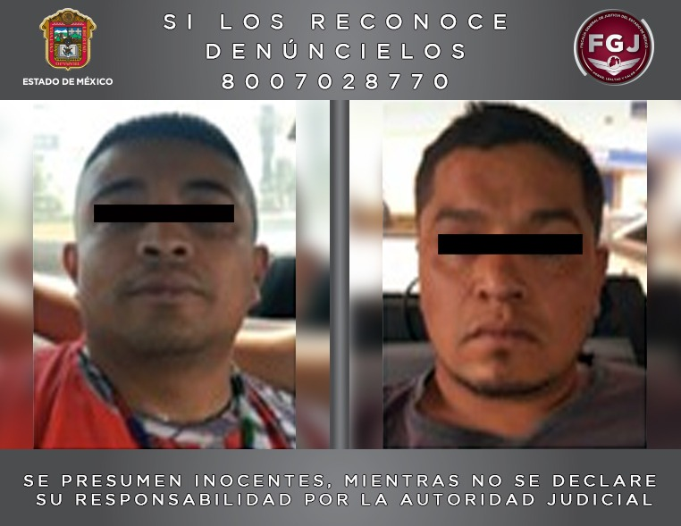 Vinculan a proceso a dos sujetos investigados por el robo y asesinato de dos personas en Tlalmanalco