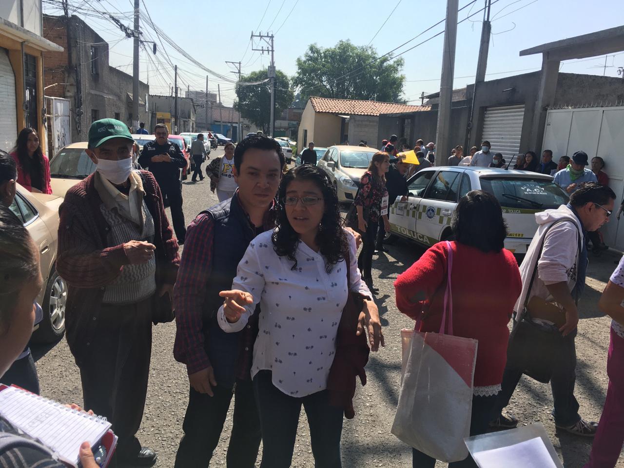 Violenta delegación de la Secretaria de Bienestar entrega de apoyos en Metepec