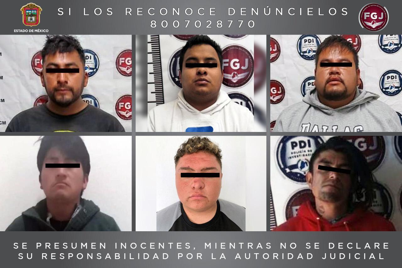 Procesan a seis sujetos por robo de vehículo con violencia y robo equiparado