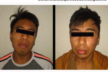 Detienen a dos hombres por su probable responsabilidad en el delito de robo con violencia de una motocicleta