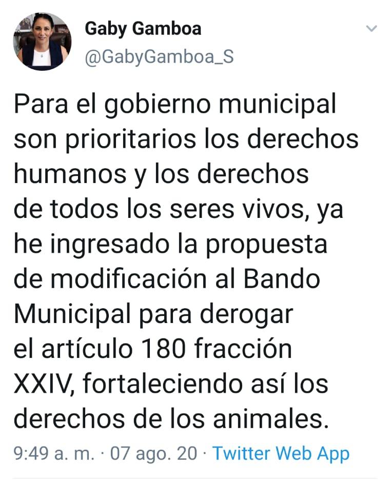 Alcaldesa de Metepec rechaza el maltrato hacia los animales