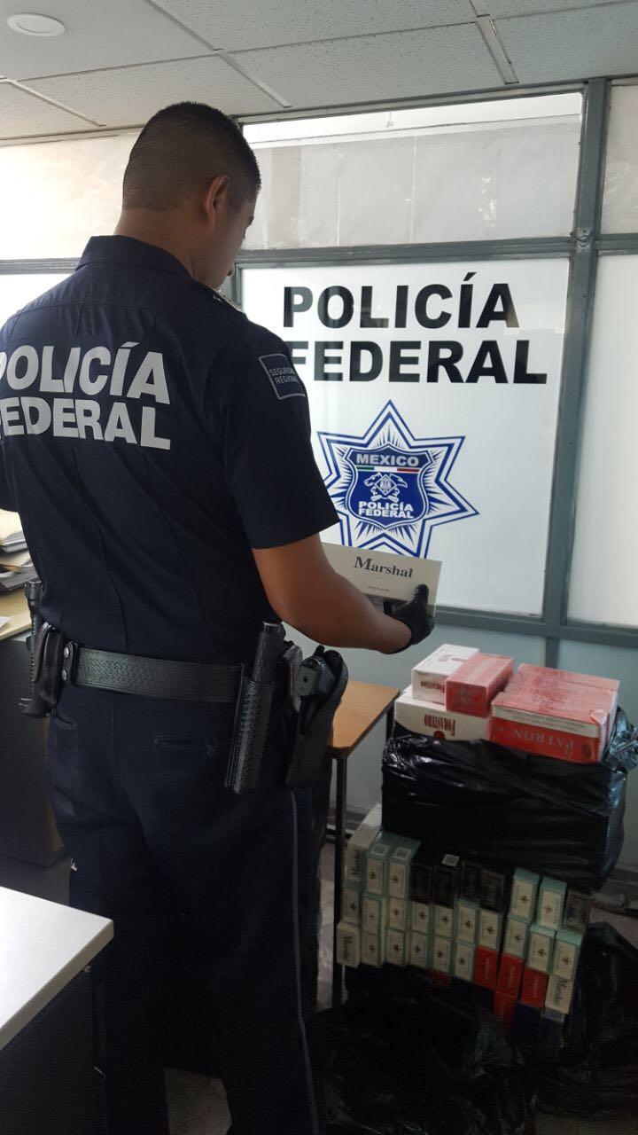Policía Federal decomisa 36 mil cigarrillos apócrifos.