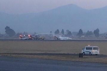 Aterriza de emergencia ambulancia aérea en aeropuerto internacional de Toluca